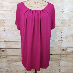 Liz Claiborne Career Woman Fuchsia Pink Blouse